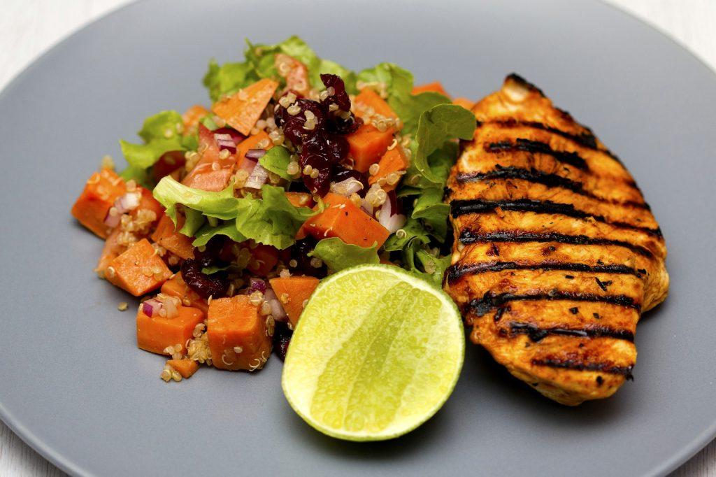Grilled chicken, quinoa salad image